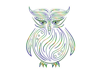 Sketch owl. Vector illustration