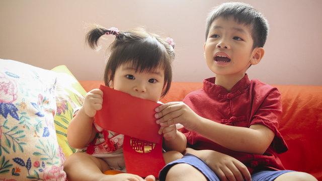 Kiddo on Lunar New Year day