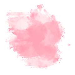 pink watercolor splash