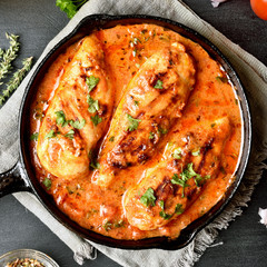 Chicken breast with tomato sauce