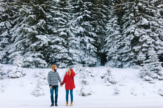 Couple on Winter Vacation