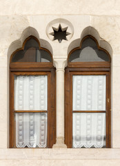 Mullioned Window on a Historical Building