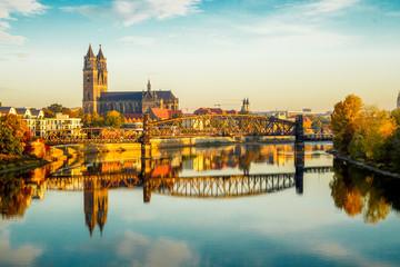 Magdeburg an der Elbe Fototapete