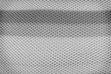 Layer of mesh honeycomb fabric texture ,white,gray and black patterns background