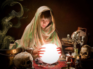 Scrying with a crystal ball