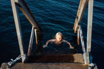 A swim in the sea.