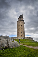The Tower of Hercules, is an ancient Roman lighthouse near the city of A Coruña, in the North of Spain