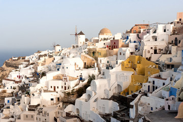 Oia's village in the island of Santorini, Greece