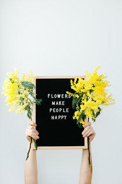 flowers make people happy