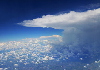 Storm Cloud viewed from Airplane