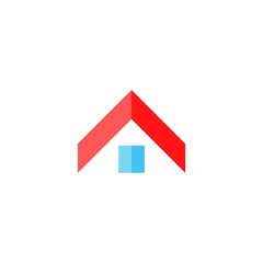 Home abstract construction company logo, Home icon