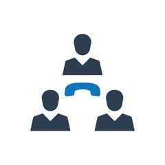 Teamwork communication icon