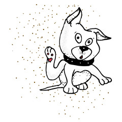 Hand Drawn Symbol of Pet Paw - Doodle Zoo Vector Hatch Icon.