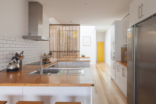 Contemporary kitchen in loft conversion