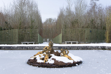 Versailles Chateau in the Snow