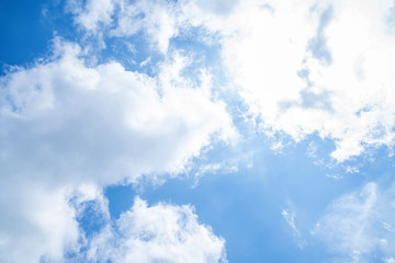 Blue sky and white clouds background material