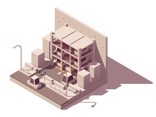 Vector isometric automated car parking system