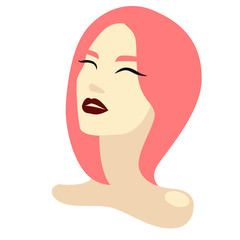 Girl and pink hair