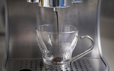 Italian espresso coffee preparation