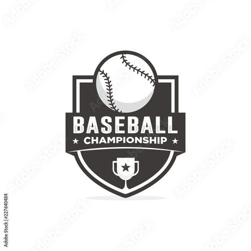 baseball logo template stock image and royalty free vector files on