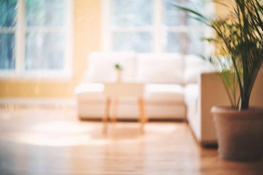 Defocused blurred luxury living room interior home background