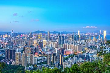 Shenzhen city night scenery