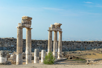 Historical park of ancient architecture. Remains of preserved ancient Greek and Roman buildings and urban infrastructure.