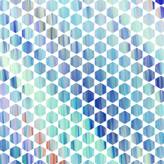 Abstract colorful blue hexagonal texture. Geometric fractal background. Fantasy digital art. 3D rendering.