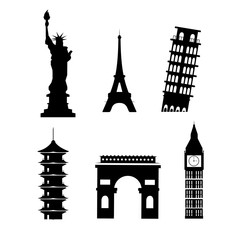 set silhouette global towers explore vacation