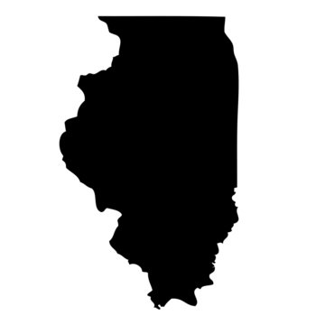 Illinois - map state of USA