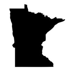 Minnesota - map state of USA
