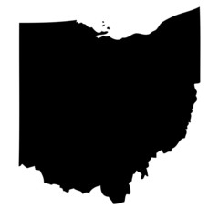 Ohio - map state of USA