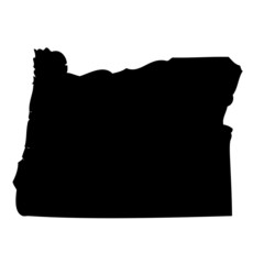 Oregon - map state of USA