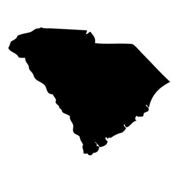 South Carolina - map state of USA
