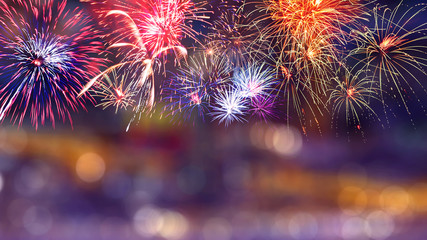 Colorful firework background 4