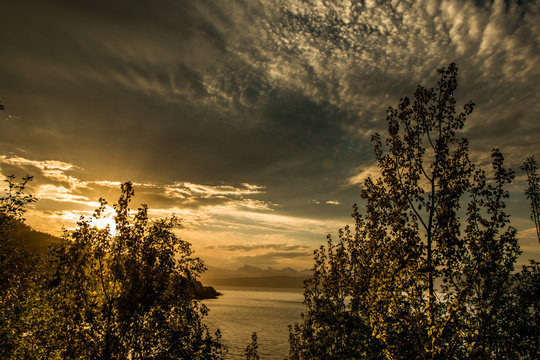 A beautiful colorfull sunset
