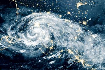 Hurricane Michael made its way into North Carolina. Elements of this image furnished by NASA.