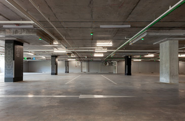 Parking garage interior, industrial building,Empty underground interior in apartment or in supermarket