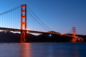 Golden Gate Bridge at night, San Francisco , USA