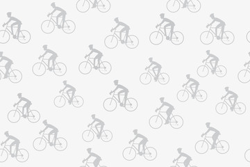 Athlete cyclist seamless background. Vector illustration of cycling race concept