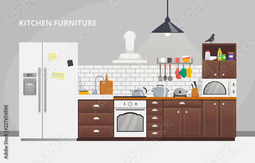 Furniture Design Banner Concept Kitchen Modern Design Business