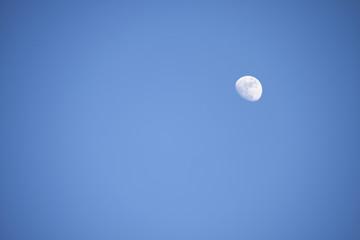 Luna sobre cielo azul