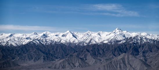 Stok Range of the Himalayas with Stok Kangri,  the highest peak mountain summit in Ladakh, Jammu and Kashmir, India. Wall mural