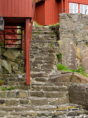 Alte Steintreppe - Tinganes- Torshavn -Faröer Inseln