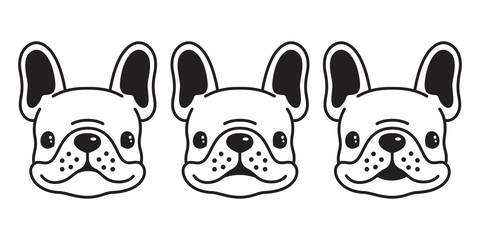 dog vector french bulldog icon logo cartoon character illustration symbol doodle graphic
