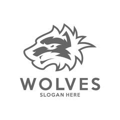 Modern professional Wolf logo for a sport team. Wolf logo vector illustration.