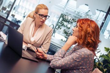Business women in modern office
