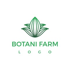 botani farm logo company vector graphic design
