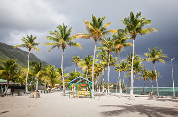 carribean beach in La Desirade, Guadeloupe