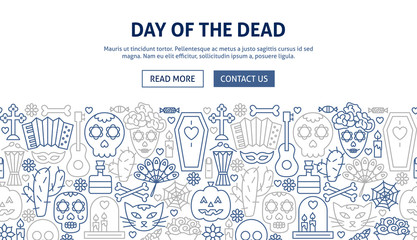 Day of the Dead Banner Design